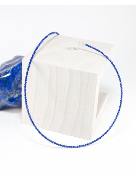 Collier fin en lapis lazuli