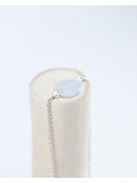 Bracelet en calcédoine, bijoux en pierre naturelle