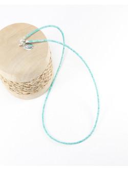 Collier fin en Amazonite, Fabrication artisanal