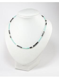 Bijou artisanal en pierre naturelle, amazonite, Spinelle, Sanuk création