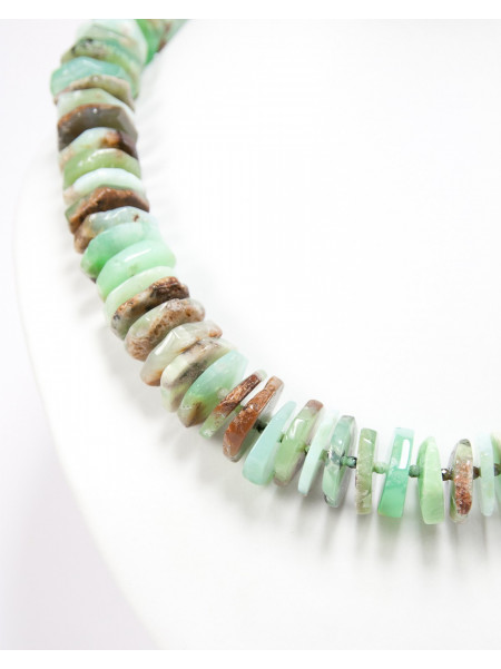 Collier en Chrysoprase, pierre naturelle