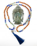Mala Lapis lazuli et turquoise