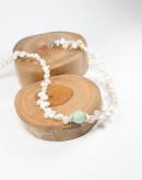 Collier en jade et perle d'eau douce, Sanuk création