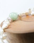 Bracelet Jade et Perle d'eau douce, Sanuk création