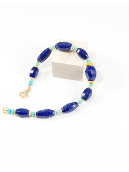Bracelet en lapis et turquoise