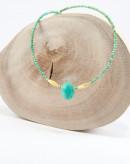 Collier en turquoise, scarabée en turquoise d'Arizona