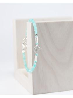 Bracelet Spirale en argent et amazonite