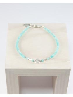 Bracelet spirale, amazonite
