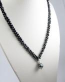 Collier en spinelle et perle de Tahiti