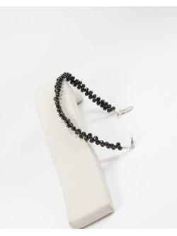 Bracelet en Spinelle noir Briolettes