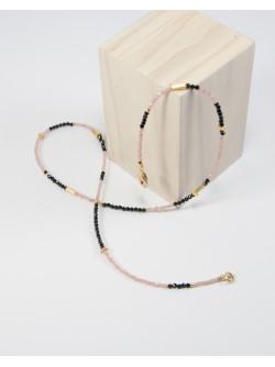 Collier rhodochrosite spinelle