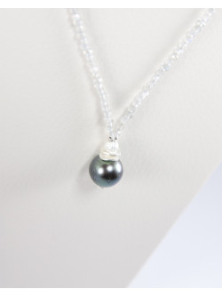 Collier Sanuk Création, Labradorite, perle de Tahiti