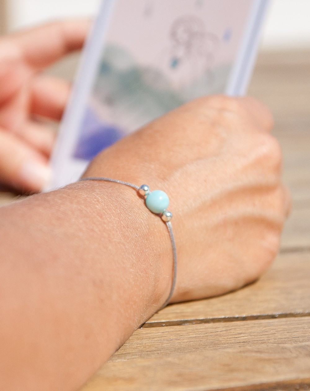 Bracelet en Larimar métamorphose