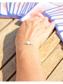 Bracelet de la métamorphose, en Larimar