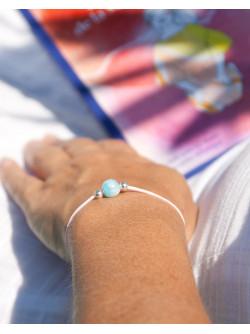 Bracelet en Larimar métamorphose, Rose, Sanuk Création