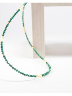 Collier collection épure en Malachite, Vermeil