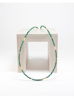 Collier collection épure en Malachite, Sanuk Création