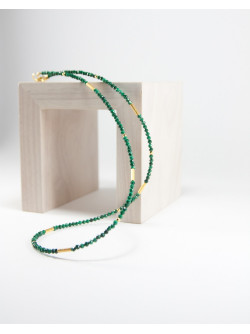 Collier collection épure en Malachite