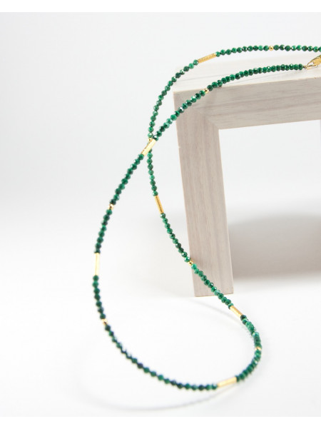 Collier collection épure en Malachite