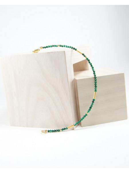 Bracelet modèle épure, Malachite