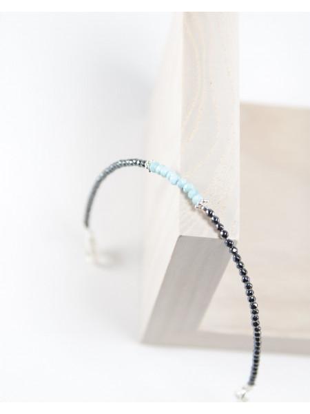 Bracelet en Hématite et Larimar