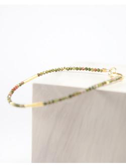 Bracelet épure, unakite, Sanuk Création