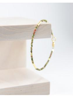 SAnuK Création, Bracelet épure en Unakite