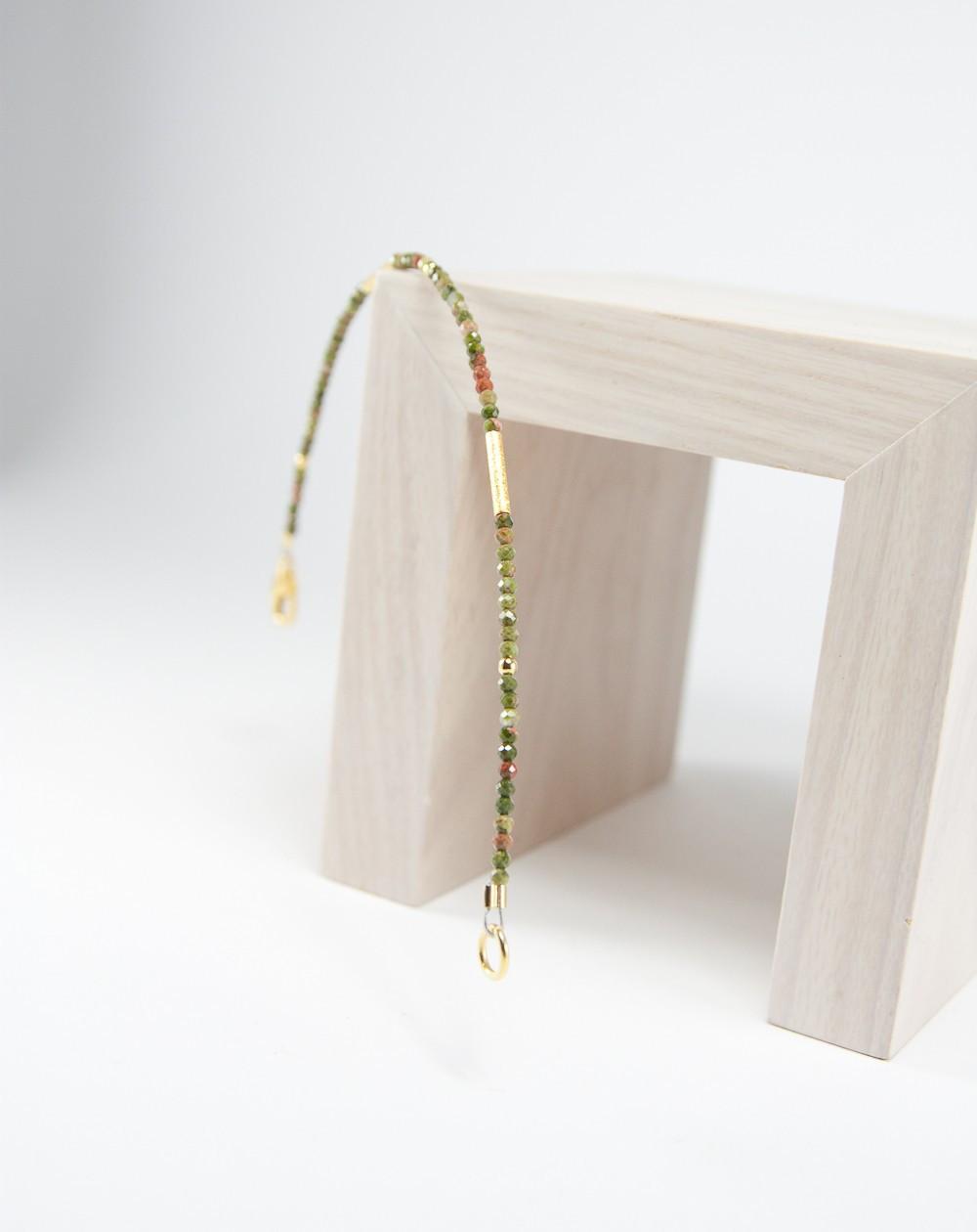 Collection épure, Bracelet Unakite