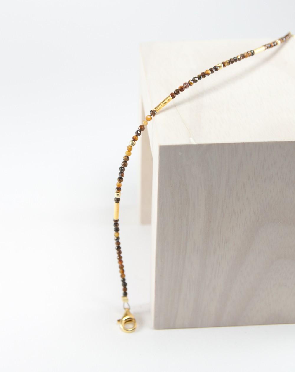 Bracelet en oeil de tigre, collection épure, Sanuk création