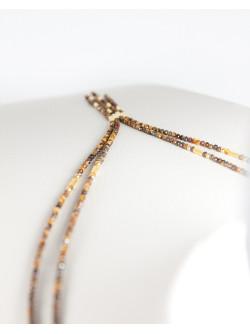 Collier 2 rangs en Oeil de tigre, Collection épure
