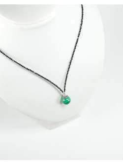 Collection Sanuk, Collier en Spinelle noir et Malachite
