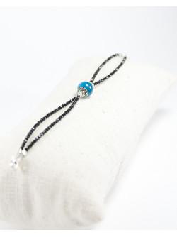 Bracelet double en Spinelle noir et Apatite, SAnuk Bayonne