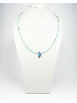 Collier en Turquoise d'Arizona et Opale Boulder, Sanuk Création