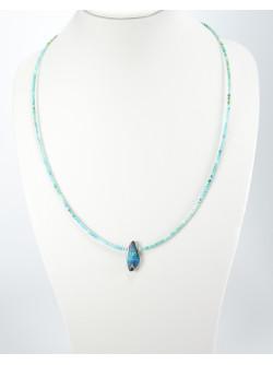 Collier en Turquoise d'Arizona et Opale, Sanuk Création, Bayonne