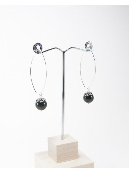 Boucles d'oreilles en Obsidienne arc en ciel