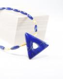 Collier triangle en Lapis Lazuli d'Afganistan