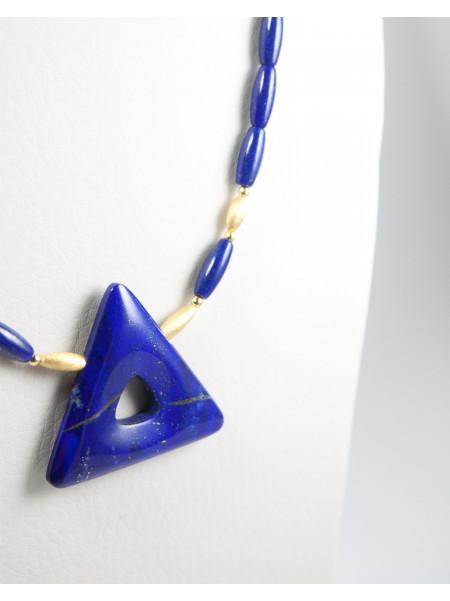 Collier triangle en Lapis Lazuli
