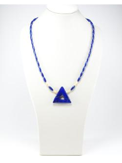 Collier triangle en Lapis Lazuli, Sanuk Création