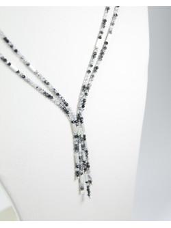 Collier collection épure en Quartz Tourmaline, Sanuk Création
