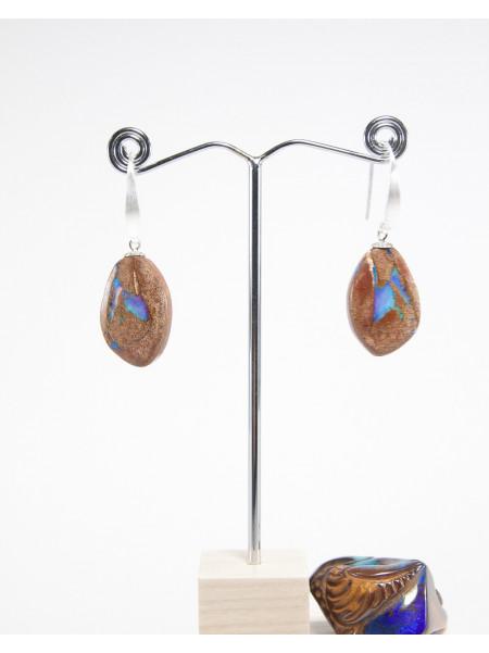 Boucles d'oreilles en Opale Boulder