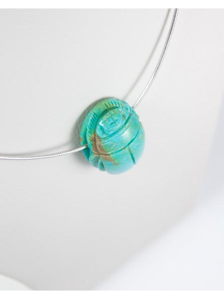 Pendentif Scarabée en Turquoise d'Arizona, Sanuk Création