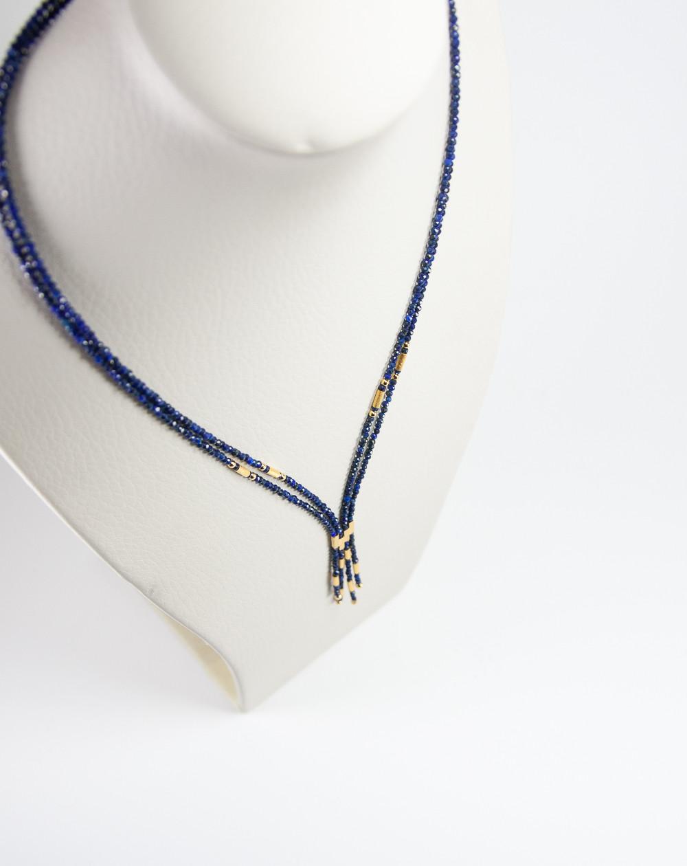 Collier épure en Lapis Lazuli, Sanuk Création