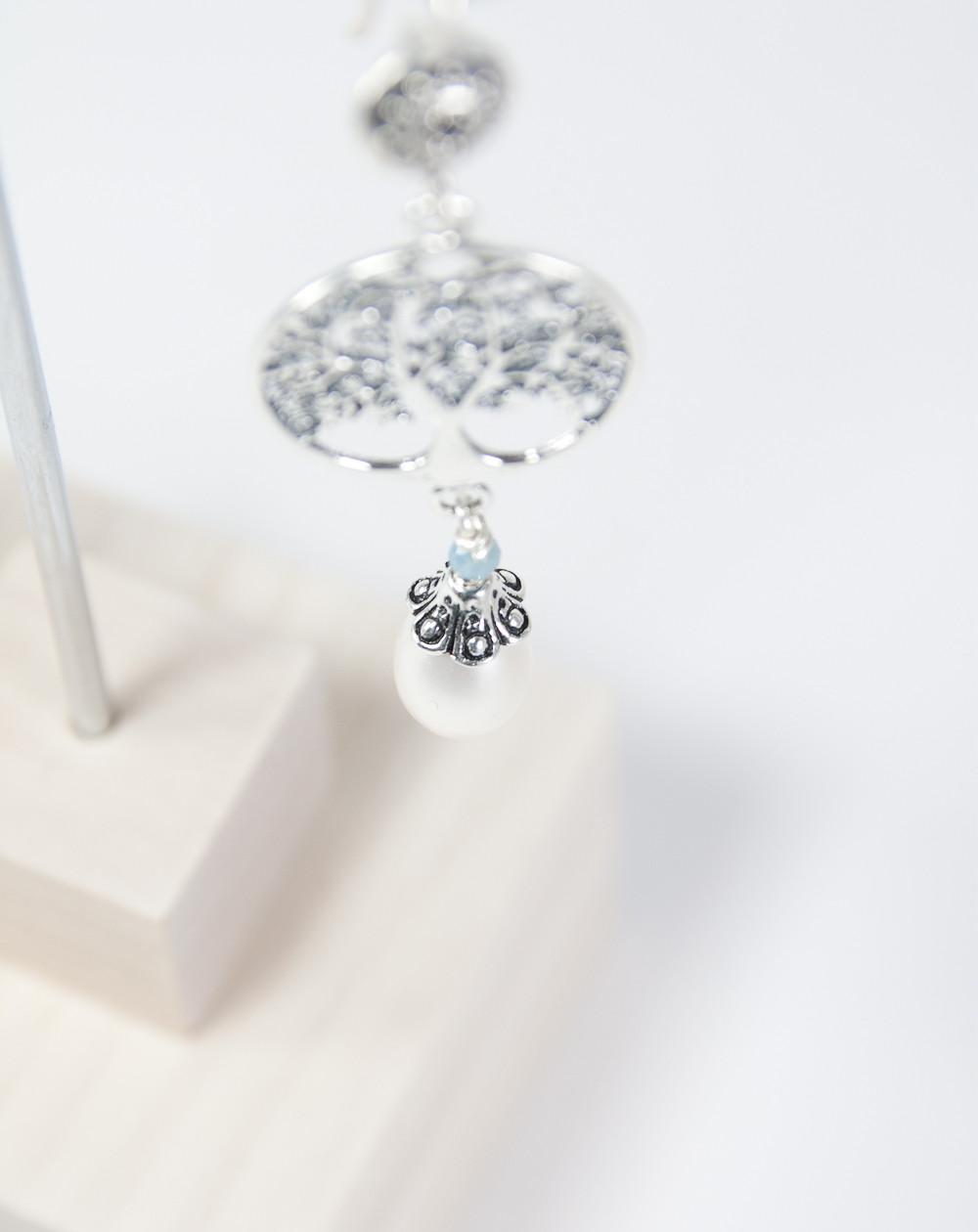Boucles d'oreilles arbre de vie Perle, Collection Kimua, Sanuk Création