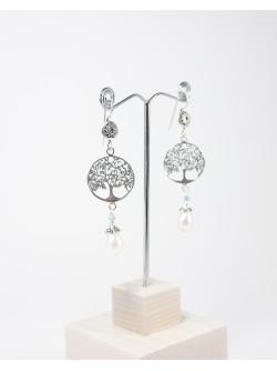 Boucles d'oreilles arbre de vie Perle, Collection Kimua