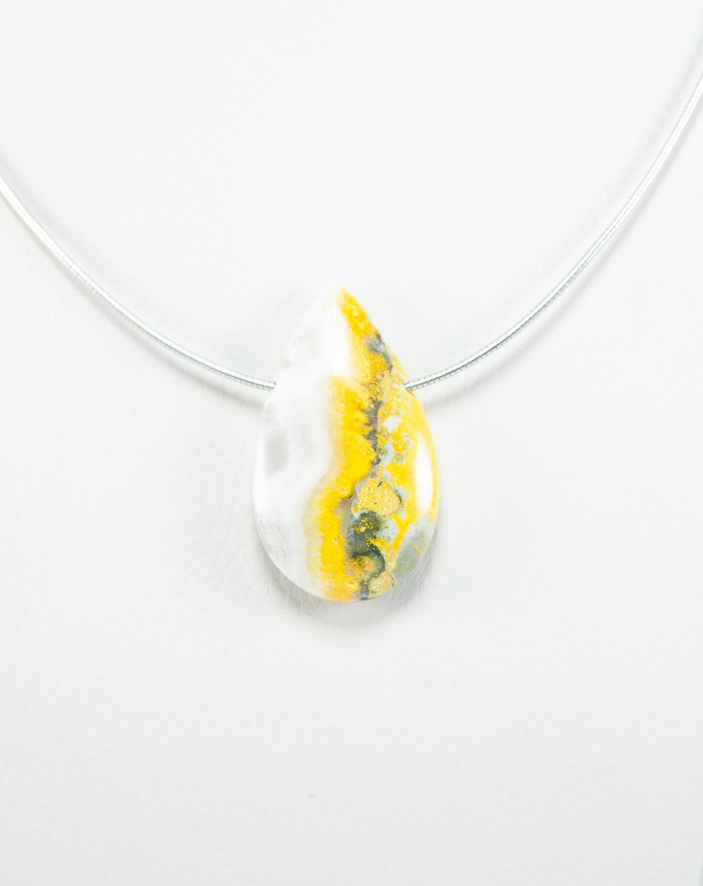 Pendentif en Jaspe Bumblebee, Sanuk Création