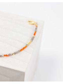 Bracelet épure Cornaline Quartz fumé, Collection épure, Sanuk Création
