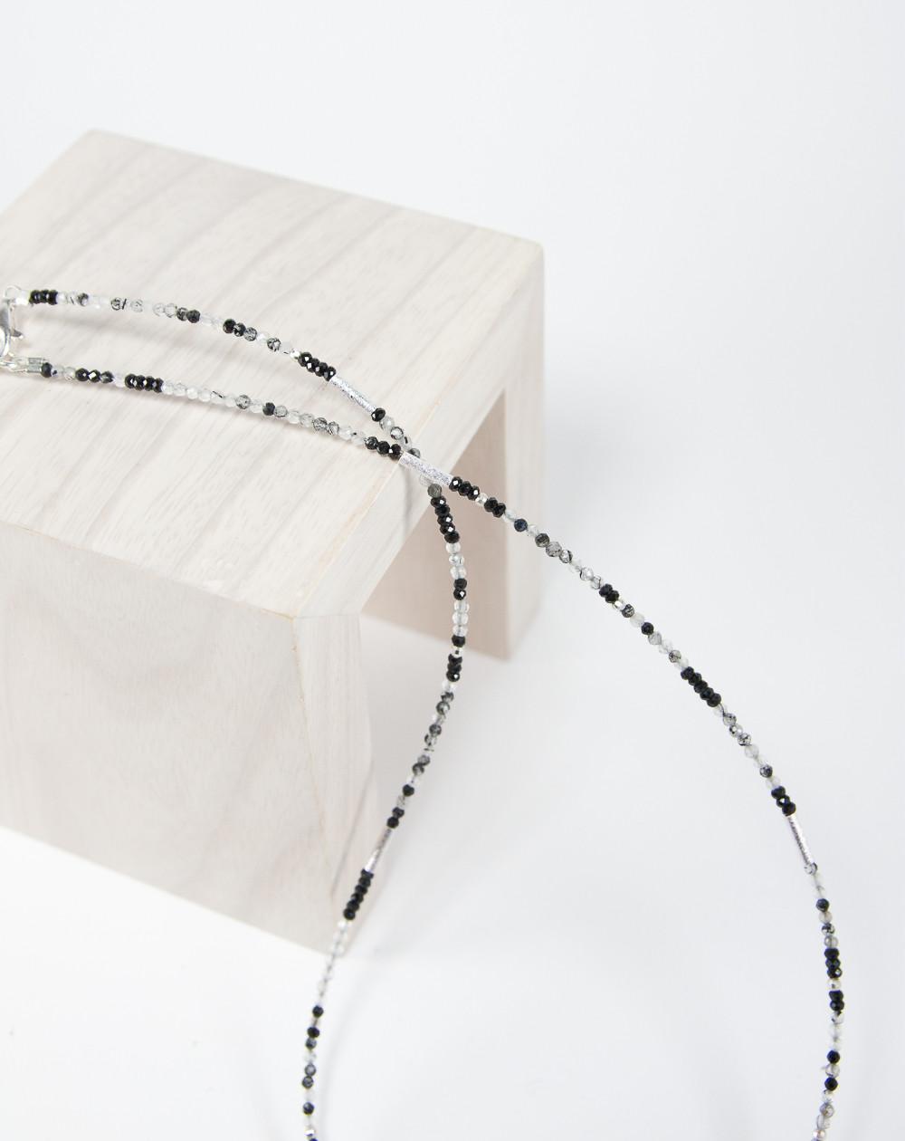 Collier collection épure Quartz Tourmaliné, Sanuk Création