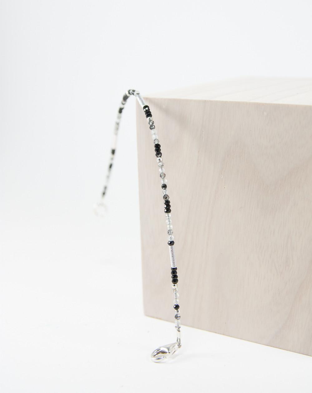 Bracelet Collection épure Quartz Tourmaliné, Sanuk création, Bayonne