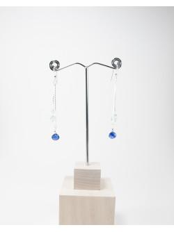 Boucles d'oreilles double Cyanite Aigue-Marine