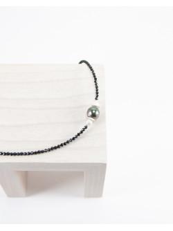 Bracelet en Spinelle et Perle de Tahiti, Sanuk Création, Bayonne